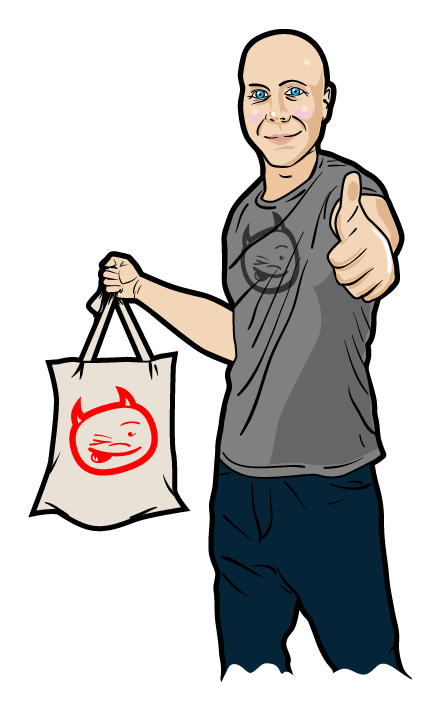 Sparky tote dude yay