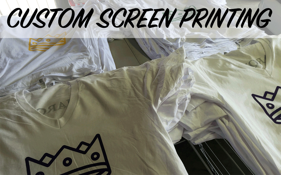 Super custom screen printing done by hand sparky for Custom screen print shirt